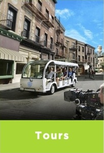 movie studio tours, city tours, bike tours, tours