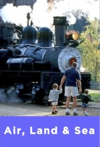 trains, planes, boats, automobile museums and activities