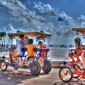 Clearwater, Florida, bike ride, bike rentals, surrey ride, cycles, things to do, family, fun, kids, children, coupon, coupons, discount