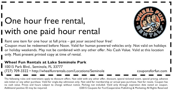 Seminole, Florida, bike ride, bike rentals, surrey ride, cycles, things to do, family, fun, kids, children, coupon, coupons, discount