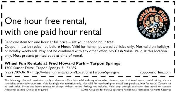 Tarpon Springs, Florida, bike ride, bike rentals, surrey ride, cycles, things to do, family, fun, kids, children, coupon, coupons, discount