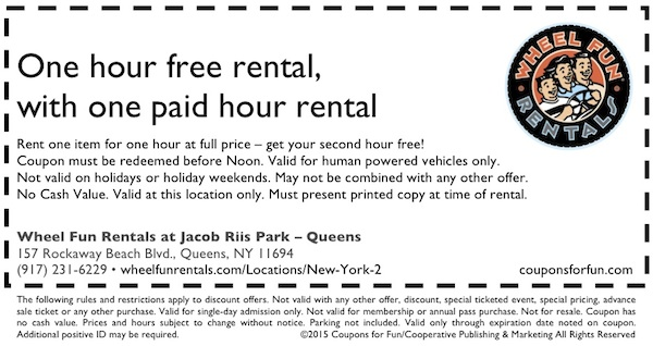 Jacob Riis Park, Queens, New York, tour, rental bikes, things to do, family, fun, kids, children, coupon, coupons, discount