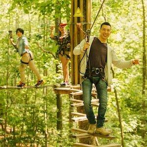 Savings coupon for Go Ape Oak Point Park in Plano, Texas - outdoor adventure