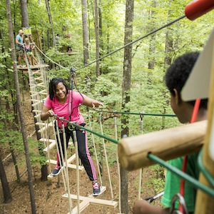 Savings coupons for Go Ape Freedom Park in Williamsburg and Go Ape South Park in Springfield, Virginia - outdoor adventure