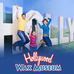 Savings coupon for the Hollywood Wax Museum near Los Angeles, California
