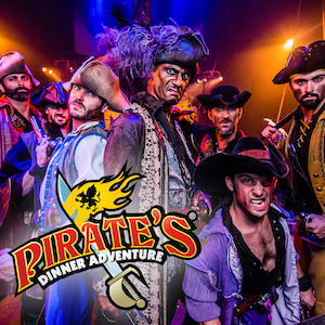 Get savings coupon for Pirate's Dinner Adventure in Buena Park, California