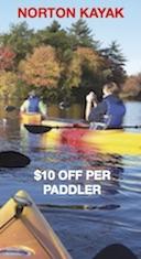 Savings coupon for Norton Kayak in Norton, Massachusetts
