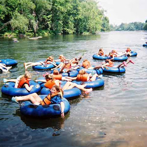 Savings coupon for Palmetto Outdoors in West Columbia, South Carolina - family river tubing