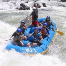 Savings coupon for WET River Trips in Lotus, California - whitewater river rafting, family