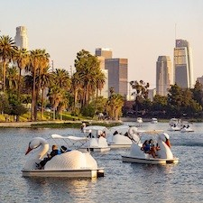 Savings coupon for Wheel Fun Rentals at Echo Park in Los Angeles, California - swan rentals, bike rentals