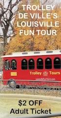 Savings coupon for Trolley de Villes in Louisville, KY