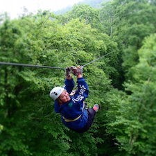 Savings coupon for Sky Valley Zip Tours and Whistle Pig Adventure Park in Blowing Rock, North Carolina - zip lines, a cliff jump, swinging bridge and countless views