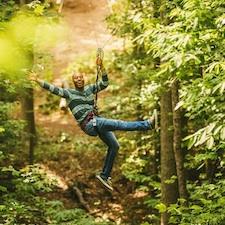Savings coupon for Go Ape Treetop Adventures at North Park, Pittsburgh, Pennsylvania, zip lines, family, fun, adventure, travel