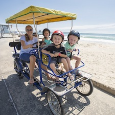 Savings coupon for Wheel Fun Rentals in San Diego, California, bike rentals, cycle, things to do, family