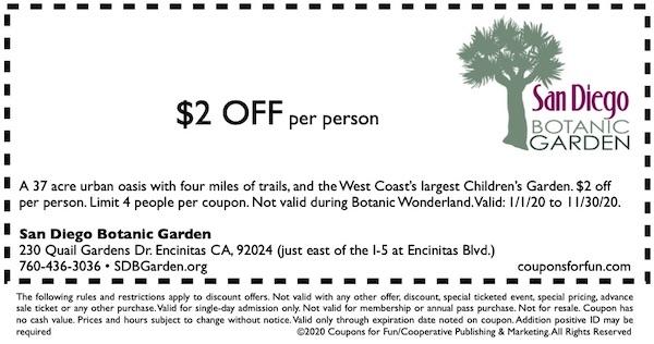 The San Diego Botanic Garden In Encinitas North County San Diego